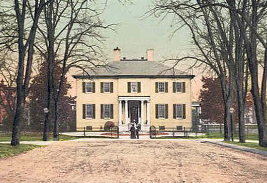 Executive Mansion as depicted on a postcard 1909